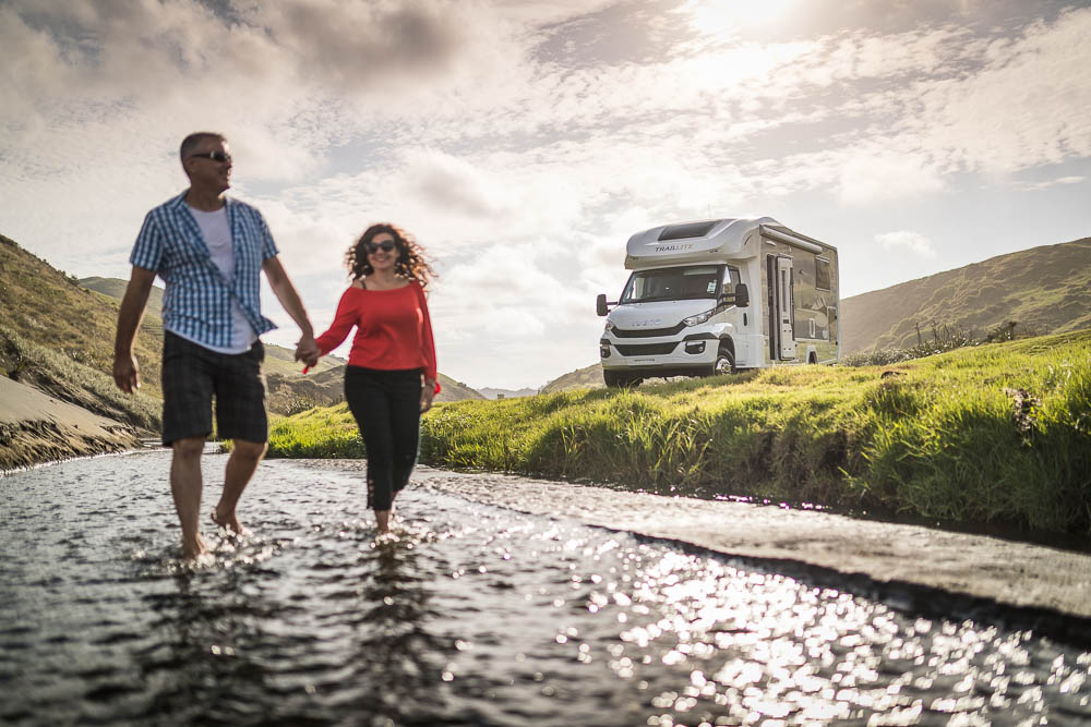 couple living in a motorhome